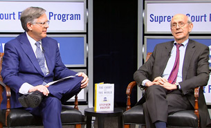 NBC News Justice correspondent Pete Williams and associate justice Stephen Breyer
