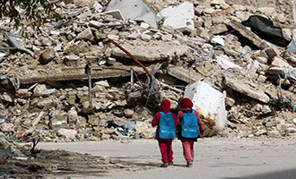 syrian-rubble-schoolgirls-330