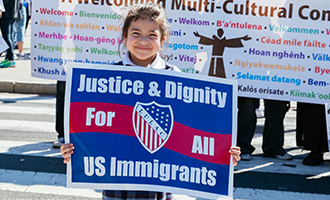 Immigrants rights protest