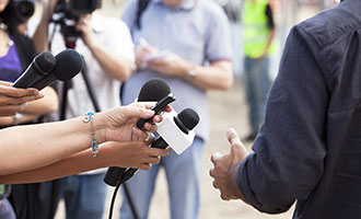 press, media, news, microphone