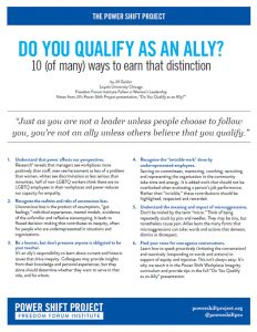 Do You Qualify as an Ally?